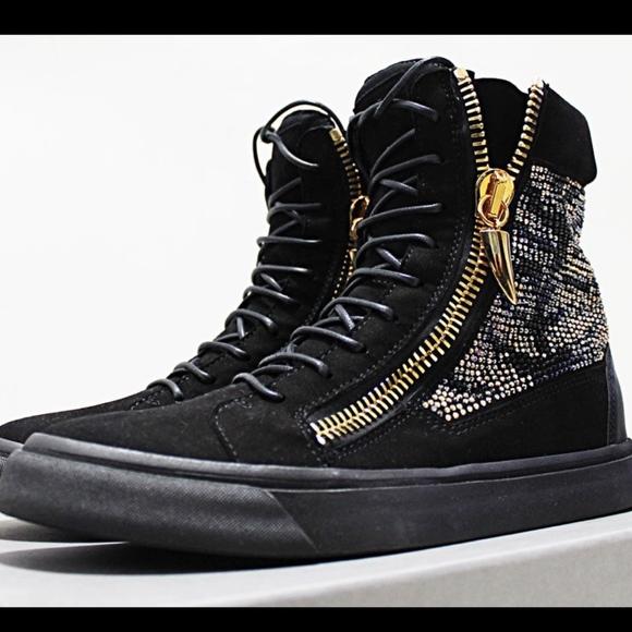 2050 ZANOTTI Swarovski Crystal Mens High Sneakers f60bbd3ec0b